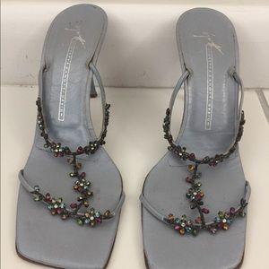 Giuseppe Zanotti Design Jewel Slip-on Heel Size 38